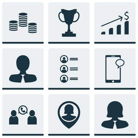 ability to speak: Set Of 9 Hr Icons. Can Be Used For Web, Mobile, UI And Infographic Design. Includes Elements Such As Coins, Growth, Money And More.