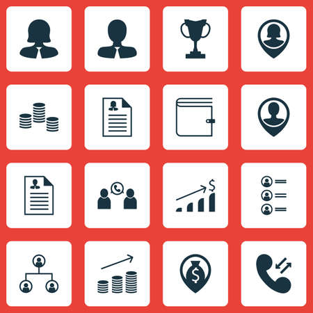 pay raise: Set Of 16 Hr Icons. Can Be Used For Web, Mobile, UI And Infographic Design. Includes Elements Such As Increase, Employee, Resume And More. Illustration