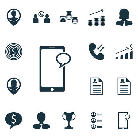 ability to speak: Set Of 16 Management Icons. Can Be Used For Web, Mobile, UI And Infographic Design. Includes Elements Such As Profile, Discussion, Male And More.