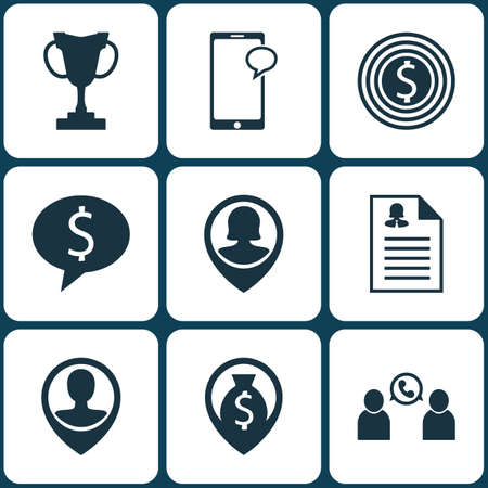 list of successful candidates: Set Of 9 Human Resources Icons. Can Be Used For Web, Mobile, UI And Infographic Design. Includes Elements Such As Female, Money, Trophy And More. Illustration