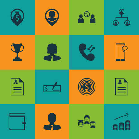 first form: Set Of 16 Human Resources Icons. Can Be Used For Web, Mobile, UI And Infographic Design. Includes Elements Such As Mobile, Goal, Call And More.