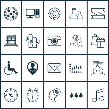 writing western: Set Of 20 Universal Editable Icons. Can Be Used For Web, Mobile And App Design. Includes Elements Such As Human Mind, Chemical, Celebration Letter And More.