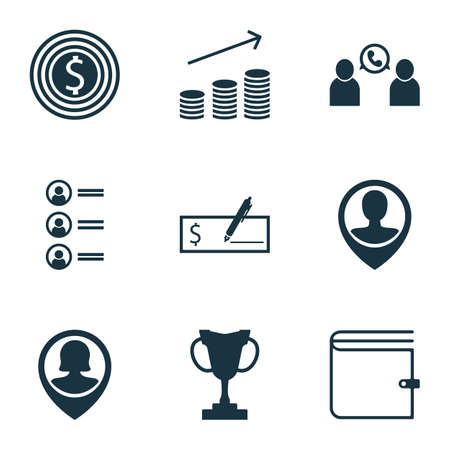 list of successful candidates: Set Of 9 Human Resources Icons. Can Be Used For Web, Mobile, UI And Infographic Design. Includes Elements Such As Success, Coins, Increase And More. Illustration