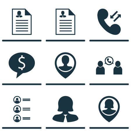 the applicant: Set Of 9 Management Icons. Can Be Used For Web, Mobile, UI And Infographic Design. Includes Elements Such As Call, Phone, Discussion And More.