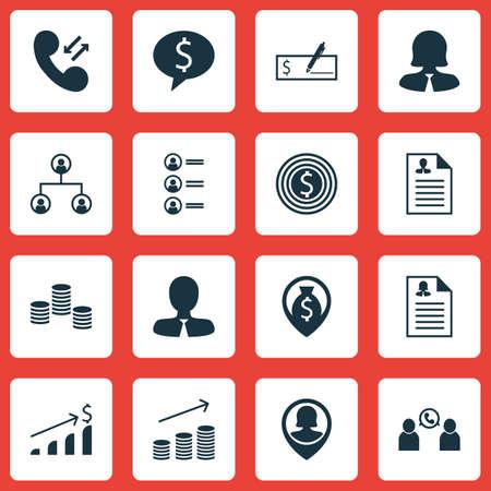 Ensemble de 16 icônes de Hr. Peut être utilisé pour Web, Mobile, UI et conception infographique. Inclut des éléments tels que Augmentation, Homme, Discussion, etc.