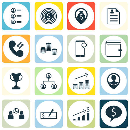 list of successful candidates: Set Of 16 Human Resources Icons. Can Be Used For Web, Mobile, UI And Infographic Design. Includes Elements Such As Wallet, Purse, Male And More. Illustration