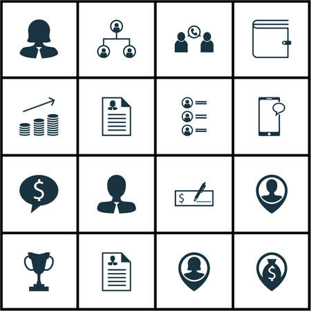 winning bid: Set Of 16 Management Icons. Can Be Used For Web, Mobile, UI And Infographic Design. Includes Elements Such As Pin, Profile, Structure And More.