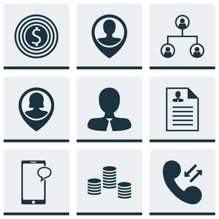 ability to speak: Set Of 9 Management Icons. Can Be Used For Web, Mobile, UI And Infographic Design. Includes Elements Such As Goal, Structure, Career And More.