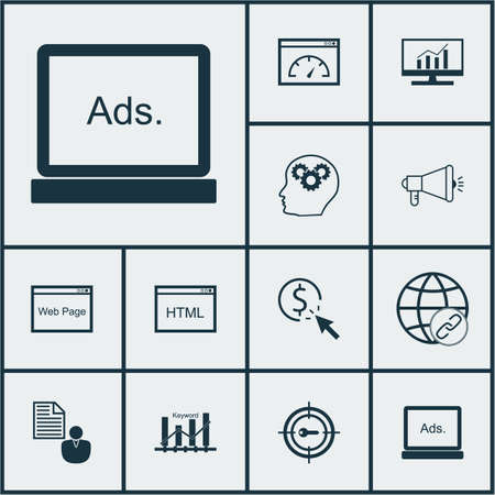 dynamic html: Set Of 12 SEO Icons. Can Be Used For Web, Mobile, UI And Infographic Design. Includes Elements Such As Per, Comprehensive, Plan And More.