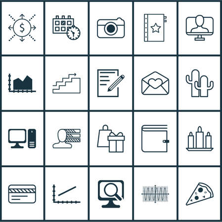 be the identity: Set Of 20 Universal Editable Icons. Can Be Used For Web, Mobile And App Design. Includes Elements Such As Line Graph, Online Identity, Sliced Pizza And More. Stock Photo