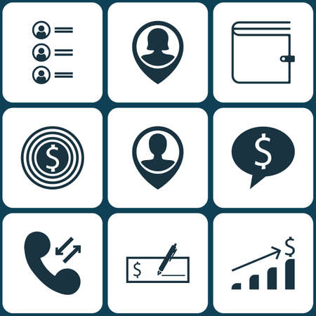 list of successful candidates: Set Of 9 Human Resources Icons. Can Be Used For Web, Mobile, UI And Infographic Design. Includes Elements Such As Check, Call, List And More. Illustration