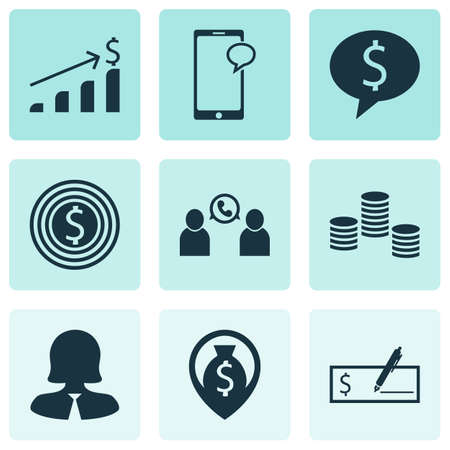 the applicant: Set Of 9 Hr Icons. Can Be Used For Web, Mobile, UI And Infographic Design. Includes Elements Such As Bank, Growth, Success And More.