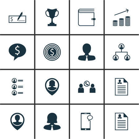the applicant: Set Of 16 Human Resources Icons. Can Be Used For Web, Mobile, UI And Infographic Design. Includes Elements Such As Male, Wallet, Pin And More. Illustration