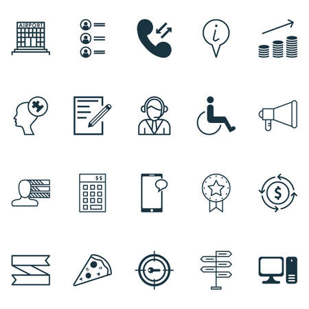 sms payment: Set Of 20 Universal Editable Icons. Can Be Used For Web, Mobile And App Design. Includes Elements Such As Operator, Present Badge, Info Pointer And More. Illustration
