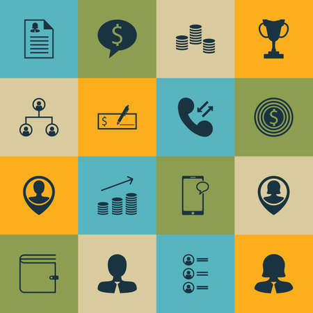 sms payment: Set Of 16 Human Resources Icons. Can Be Used For Web, Mobile, UI And Infographic Design. Includes Elements Such As User, Profile, Money And More.