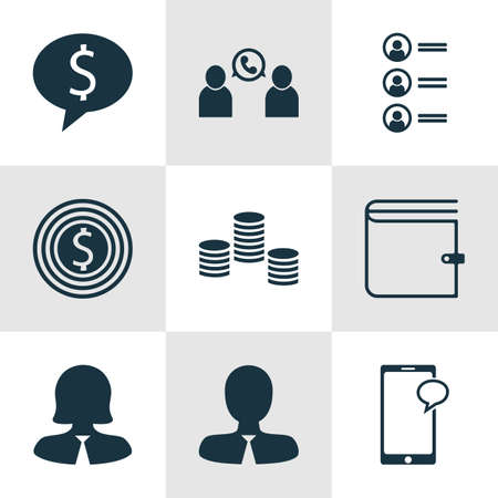 applicant: Set Of 9 Human Resources Icons. Can Be Used For Web, Mobile, UI And Infographic Design. Includes Elements Such As Opinion, Chat, Conference And More. Illustration