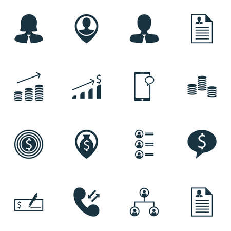list of successful candidates: Set Of 16 Management Icons. Can Be Used For Web, Mobile, UI And Infographic Design. Includes Elements Such As Tree, Phone, Pin And More.
