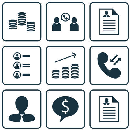 ability to speak: Set Of 9 Human Resources Icons. Can Be Used For Web, Mobile, UI And Infographic Design. Includes Elements Such As Application, Stacked, Cellular And More. Illustration