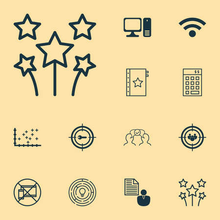 Set Of 12 Universal Editable Icons. Can Be Used For Web, Mobile And App Design. Includes Elements Such As Report, Cooperation, Focus Group And More.