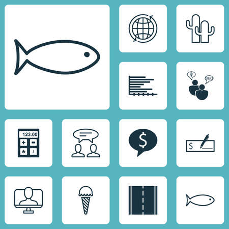 be the identity: Set Of 12 Universal Editable Icons. Can Be Used For Web, Mobile And App Design. Includes Elements Such As Online Identity, Business Deal, Fishing And More. Illustration