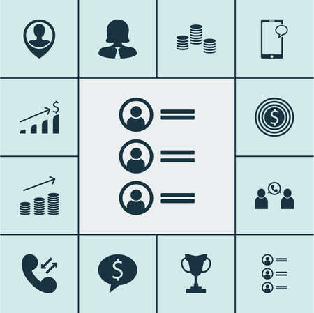 sms payment: Set Of 12 Management Icons. Can Be Used For Web, Mobile, UI And Infographic Design. Includes Elements Such As Pin, Chat, Increase And More.