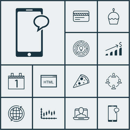 banco mundial: Conjunto de 12 iconos universales editables. Se puede utilizar para web, móvil y de App Diseño. Incluye elementos como el Mundial, tarjeta bancaria, la torta de cumpleaños y más. Vectores
