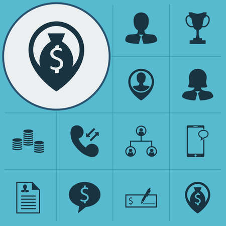 debt collection: Set Of 12 Management Icons. Can Be Used For Web, Mobile, UI And Infographic Design. Includes Elements Such As Coins, Chat, Discussion And More.