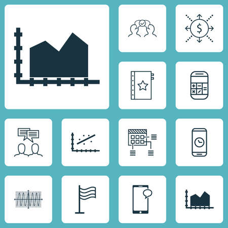 cosinus: Set Of 12 Universal Editable Icons. Can Be Used For Web, Mobile And App Design. Includes Elements Such As Cosinus Diagram, Sequence Graphics, Analytics And More. Illustration
