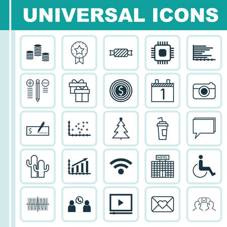 cosinus: Set Of 25 Universal Editable Icons. Can Be Used For Web, Mobile And App Design. Includes Icons Such As Decorated Tree, Cosinus Diagram, Accessibility And More.
