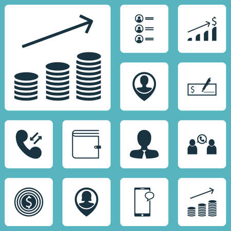 applicant: Set Of Hr Icons On Wallet, Cellular Data And Bank Payment Topics. Editable Vector Illustration. Includes Increase, Bank, Coins And More Vector Icons.