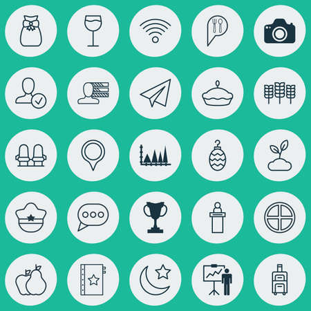 flan: Set Of 25 Universal Editable Icons. Can Be Used For Web, Mobile And App Design. Includes Elements Such As Message Bubble, Registration Service, Startup And More.