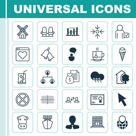 interrupt: Set Of 25 Universal Editable Icons. Can Be Used For Web, Mobile And App Design. Includes Elements Such As Business Aim, Manager, Lemon Juice And More.