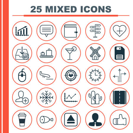 Set Of 25 Universal Editable Icons. Can Be Used For Web, Mobile And App Design. Includes Elements Such As Snow, Text Bubble, Extract Device And More.