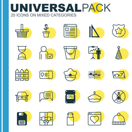 instant messaging: Set Of 25 Universal Editable Icons. Can Be Used For Web, Mobile And App Design. Includes Elements Such As Measurement, Jug, Barrier And More.