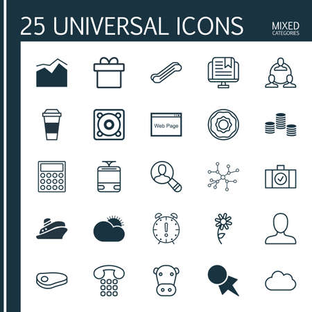 kine: Set Of 25 Universal Editable Icons. Can Be Used For Web, Mobile And App Design. Includes Elements Such As Steak, Kine, Conversation And More.