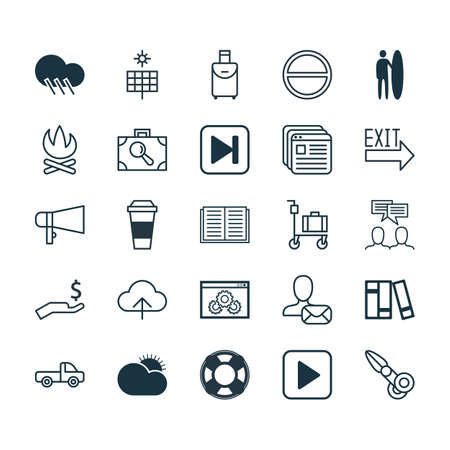 panel van: Set Of 25 Universal Editable Icons. Can Be Used For Web, Mobile And App Design. Includes Elements Such As Clippers, Data Synchronize, Mocha And More.