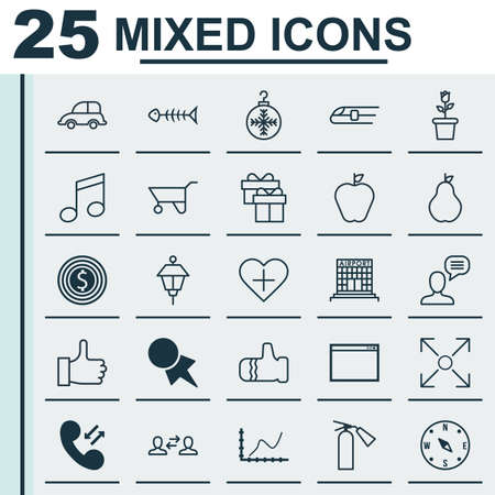 transfer pricing: Set Of 25 Universal Editable Icons. Can Be Used For Web, Mobile And App Design. Includes Elements Such As Tree Toy, Discount Coupon, Fire Extinguisher And More.
