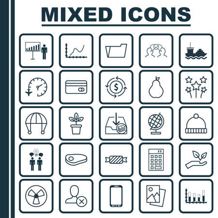 Set Of 25 Universal Editable Icons. Can Be Used For Web, Mobile And App Design. Includes Elements Such As Flowerpot, Skydive, Steak And More.