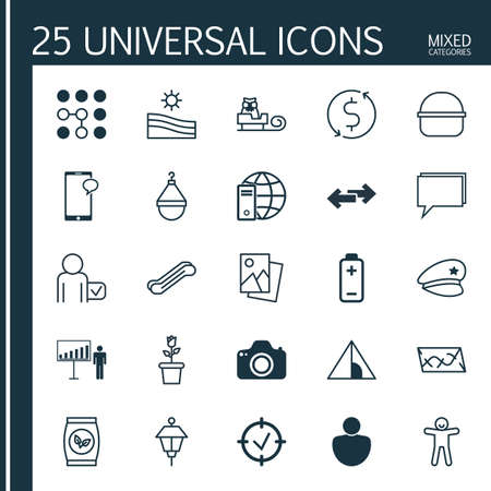 globetrotter: Set Of 25 Universal Editable Icons. Can Be Used For Web, Mobile And App Design. Includes Elements Such As Money Trasnfer, Globetrotter, Lantern And More.