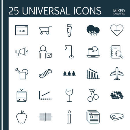 winesap apple: Set Of 25 Universal Editable Icons. Can Be Used For Web, Mobile And App Design. Includes Elements Such As Holiday Ornament, Steak, Streetcar And More.