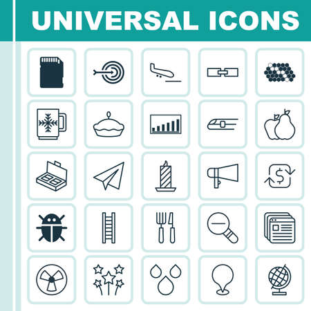 Set Of 25 Universal Editable Icons. Can Be Used For Web, Mobile And App Design. Includes Elements Such As Memory Card, Fire Wax, Hive Pattern And More.