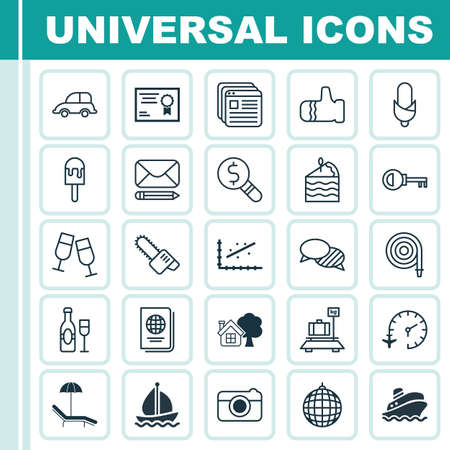 Set Of 25 Universal Editable Icons. Can Be Used For Web, Mobile And App Design. Includes Elements Such As Mitten, Speaking, Relax Chair And More. Illustration