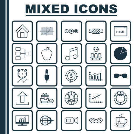 possession: Set Of 25 Universal Editable Icons. Can Be Used For Web, Mobile And App Design. Includes Elements Such As Send Data, Garland , Market Research. Illustration