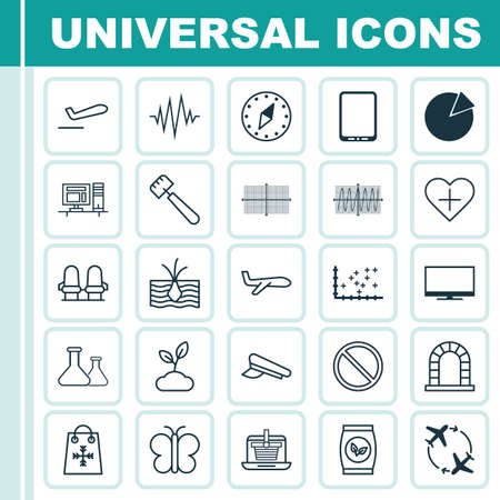 Set Of 25 Universal Editable Icons. Can Be Used For Web, Mobile And App Design. Includes Elements Such As Spatula, Add To Favorites, Grains And More. Illustration