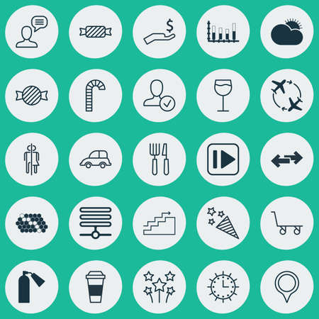 wine road: Set Of 25 Universal Editable Icons. Can Be Used For Web, Mobile And App Design. Includes Elements Such As Information Base, Firefighter, Fork Knife And More.