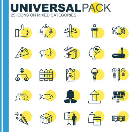 squib: Set Of 25 Universal Editable Icons. Can Be Used For Web, Mobile And App Design. Includes Elements Such As Router, Registration Service, Tree Structure And More.