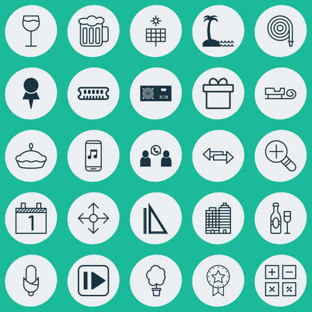 flan: Set Of 25 Universal Editable Icons. Can Be Used For Web, Mobile And App Design. Includes Elements Such As Sun Power, Dynamic Memory, Flan And More.