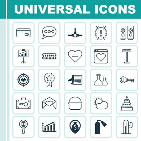 inflammable: Set Of 25 Universal Editable Icons. Can Be Used For Web, Mobile And App Design. Includes Elements Such As Report Demonstration, Money Navigation, Dessert And More.