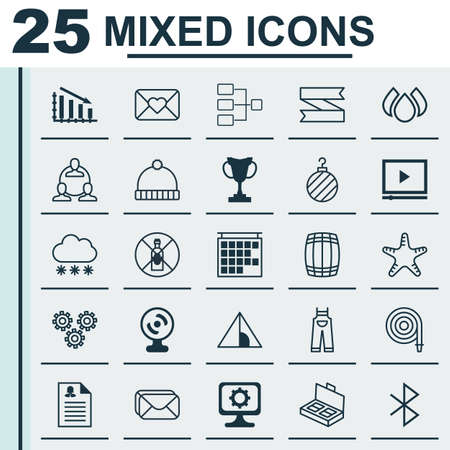 digicam: Set Of 25 Universal Editable Icons. Can Be Used For Web, Mobile And App Design. Includes Elements Such As Web Camera, Garden Clothes, Camping House And More.