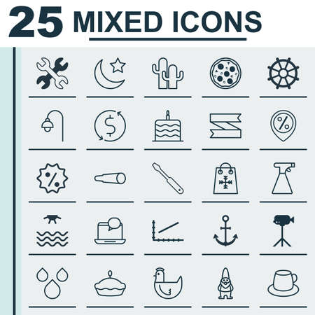 Set Of 25 Universal Editable Icons. Can Be Used For Web, Mobile And App Design. Includes Elements Such As Coffee Cup, Camcorder, Trading And More.